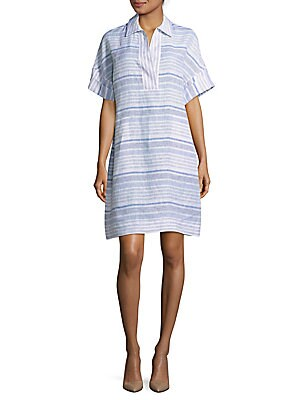 Mirta Short-Sleeve Striped Dress