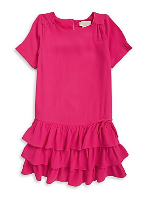 Little Girl's Crepe Ruffled Dress