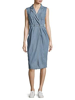 Sleeveless Cotton Denim Dress