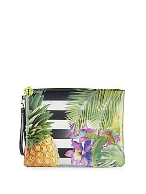 Tropical-Print Pouch