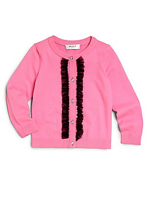 Little Girl's Ruffle-Trimmed Cardigan