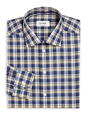 Plaid Regular-Fit Dress Shirt