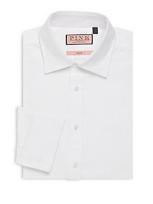 Classic-Fit Cotton Dress Shirt