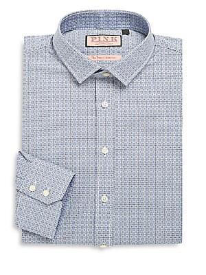 Bartlett Printed Cotton Dress Shirt