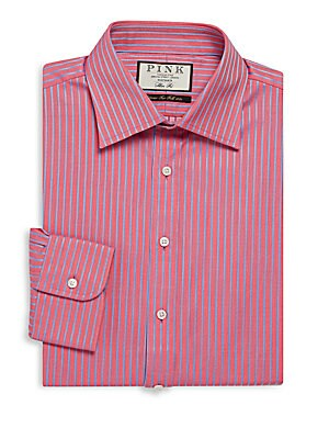 Gibson Slim-Fit Striped Cotton Dress Shirt