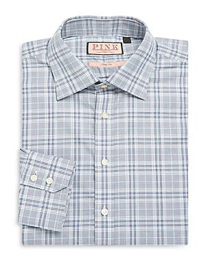 Harding Slim-Fit Plaid Cotton Dress Shirt