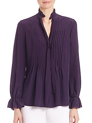 Everette Silk Pleated Blouse