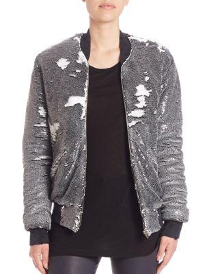 Amaia Sequin Bomber Jacket IRO Jeans