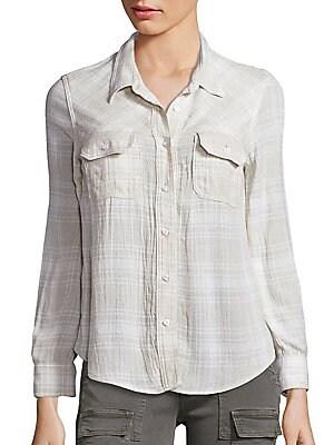 Plaid Hideaway Shirt