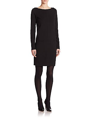 Black Label Adrienne Long-Sleeve Dress
