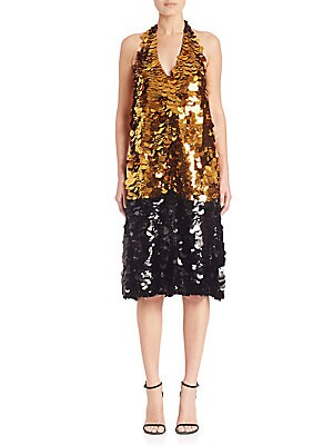 Paillette Trapeze Dress