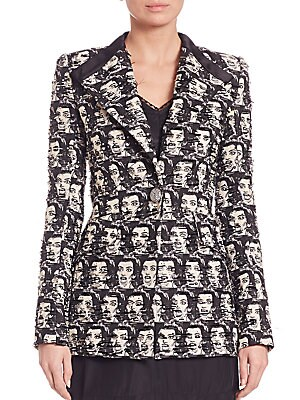 marc jacobs female maria callas jacquard jacket