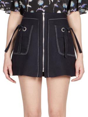 Zip-Front Mini Skirt