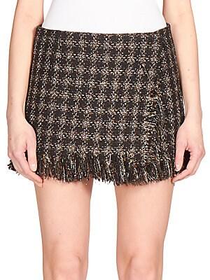 Lamé Tweed Micro-Mini Skirt