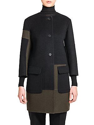 Venezia Paneled Wool Contrast Coat