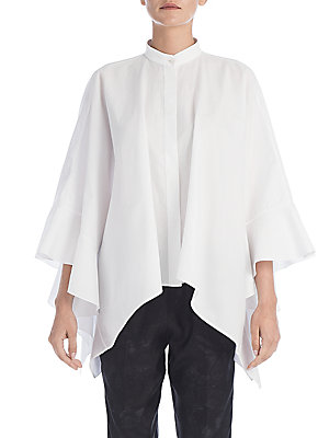Cotton Poplin Flutter Shirt