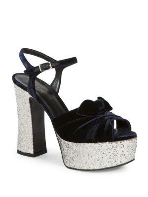 Candy Velvet  Glitter Platform Sandals Yves Saint Laurent