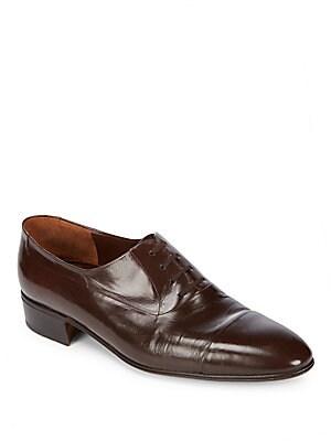 Leather Cap Toe Dress Shoes