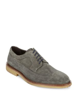 Bergen Suede Leather Derby Shoes To Boot New York