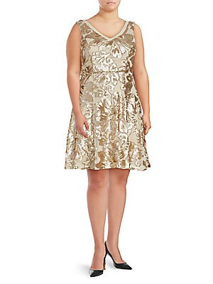 Sequined Pleated Dress