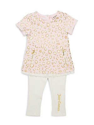 Baby's Two-Piece Cotton-Blend Tunic & Leggings Set