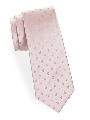 abla male paisley patterned silk tie