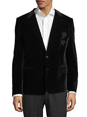 Buttoned Velvet Jacket