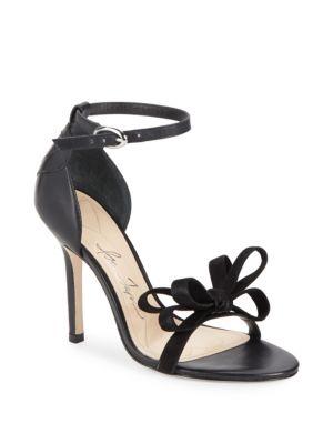 Open-Toe Leather Stiletto Sandals Isa Tapia