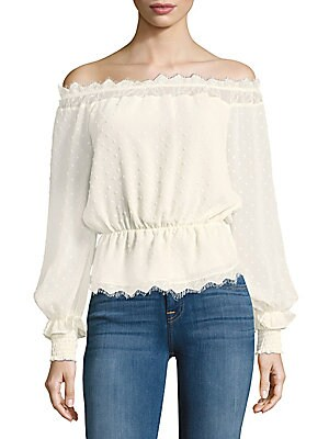 Dylan Solid Off-The-Shoulder Top