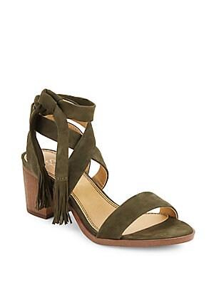 Janine Strappy Suede Sandals