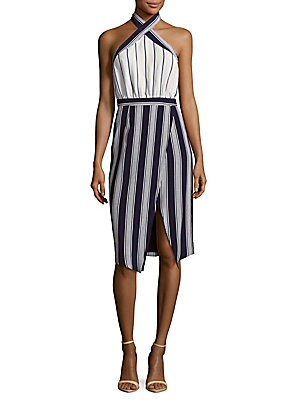 Noemi Striped Halter Dress