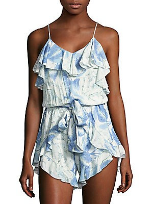 Antigua Ruffled V-Neck Romper