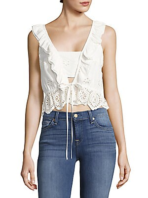 Lima Cropped Ruffled Top
