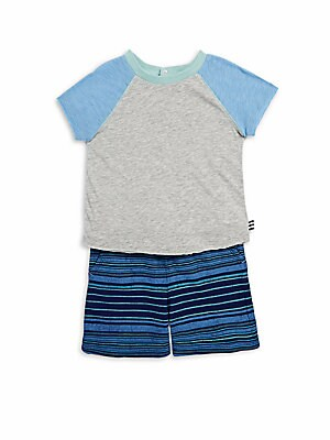 Little Boy's Two-Piece Raglan Outfit Set