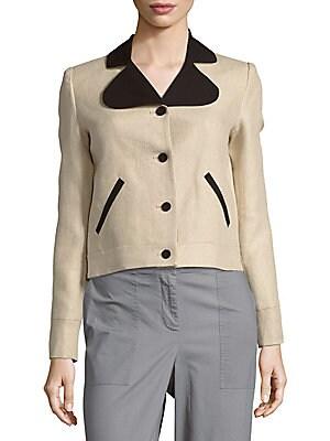 Long-Sleeve Linen Jacket