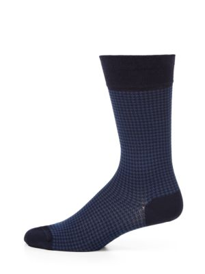 Houndstooth Cotton-Blend Socks Marcoliani