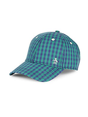 Checked Cotton Baseball Cap