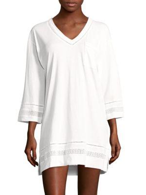Open-Work Cotton Short Gown Carole Hochman