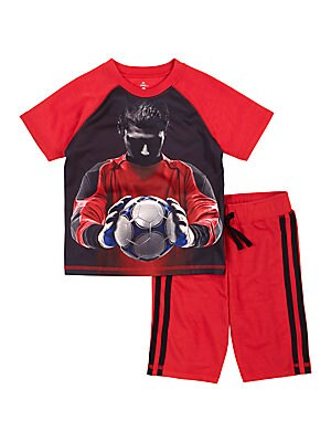 Boy's Soccer Pro 2-Piece Pajama Pants Set