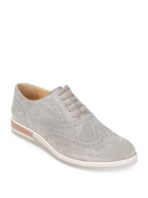 Suede Brogue Shoes Bugatchi