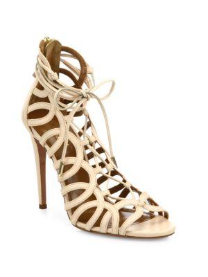 Ooh La La Leather Sandals Aquazzura