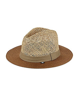 Open Weave Braided Straw Sun Hat