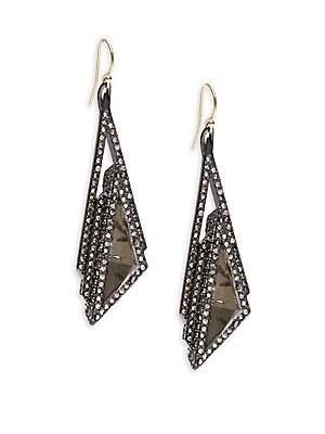 Elements Swarovski Crystal Studded Earrings