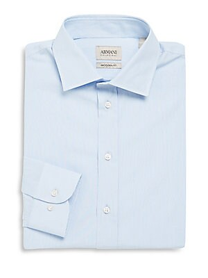 Modern Fit Micro Striped Dress Shirt