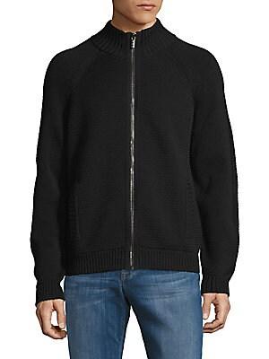 Zip-Front Wool Jacket