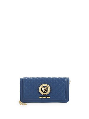 Borsa Nappa Diamond-Quilted Clutch