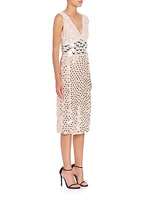 Genevieve Chiffon Paillette Dress