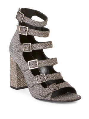 Babies Multi-Strap Lurex Block-Heel Sandals Yves Saint Laurent