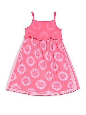 Little Girl's Printed Popover Dress