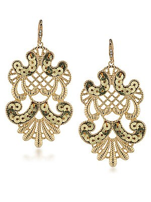 Somewhere To Be Sequined Goldtone Drop Earrings